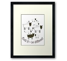 Flock It - Be Different Framed Print
