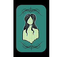 Pattern Girl : Dots Photographic Print