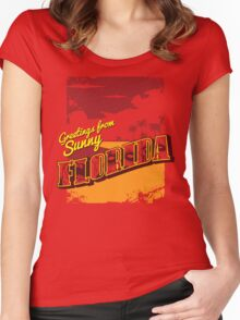 Greetings from Zombie Florida! Women's Fitted Scoop T-Shirt