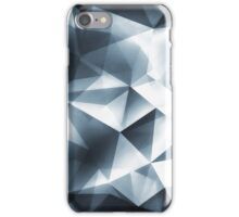 Abstract geometric triangle pattern ( Carol Cubism Style) in ice silver - gray iPhone Case/Skin