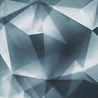 Abstract geometric triangle pattern ( Carol Cubism Style) in ice silver - gray by badbugs
