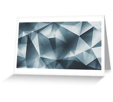 Abstract geometric triangle pattern ( Carol Cubism Style) in ice silver - gray Greeting Card