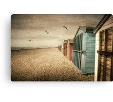 Hayling Island Beach Huts Canvas Print