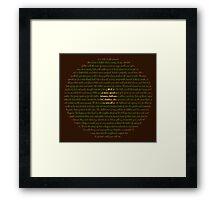 Hobbit Door Framed Print