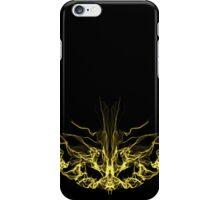 gold mask on Black iPhone Case/Skin