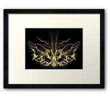 gold mask on Black Framed Print