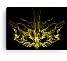 gold mask on Black Canvas Print