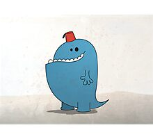 Big Blue Monster with a Fez Photographic Print