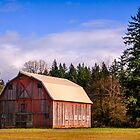 The Orange Barn Near Woodburn by Marvin Mast