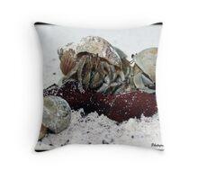 Crab Family Throw Pillow