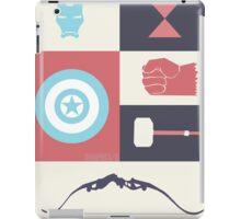 Superheroes minimal collage iPad Case/Skin
