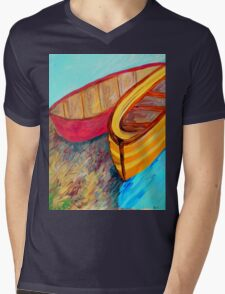 Boats in Waiting Mens V-Neck T-Shirt