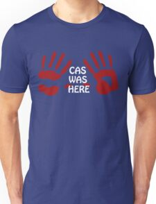Castiel is Handsy (back in black) Unisex T-Shirt