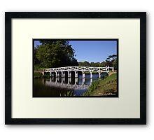 Wooden Bridge at Painshill Park  Framed Print
