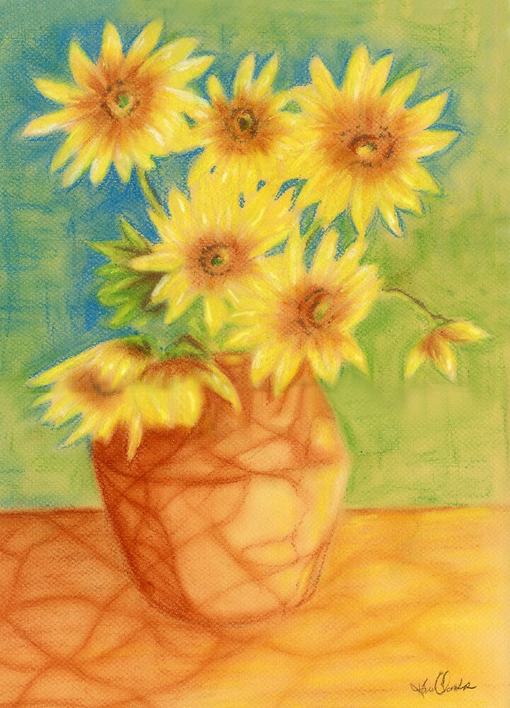 Sunflowers Ala Van Gogh by Karen Clark
