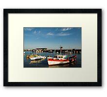 Bridlington harbour in summer light Framed Print