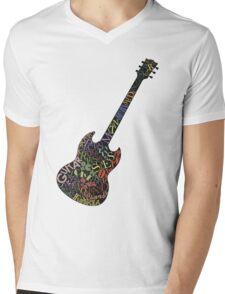 Guitar Typology Mens V-Neck T-Shirt