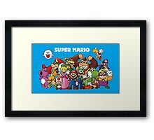 Super Mario and Pals! Framed Print