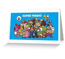 Super Mario and Pals! Greeting Card