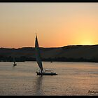 Sunset on the Nile  by Jonathan  Jarman