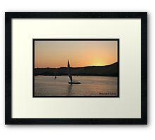 Sunset on the Nile  Framed Print