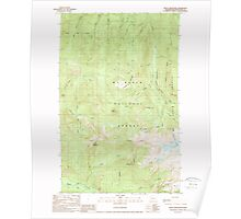 USGS Topo Map Washington State WA Groat Mountain 241436 1989 24000 Poster