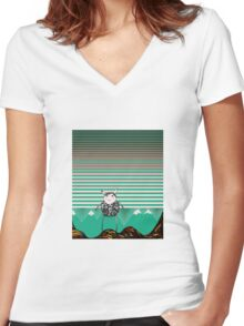 Alpine Odyssey Women's Fitted V-Neck T-Shirt