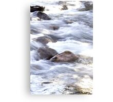 Water Rushing By At Gore Creek  Canvas Print
