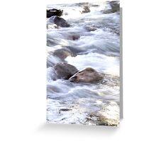 Water Rushing By At Gore Creek  Greeting Card