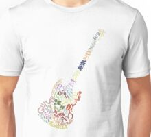 Guitar Typology No Background Unisex T-Shirt