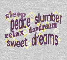 Sleepy messages in dreamy pinks. Dream Kids Tee