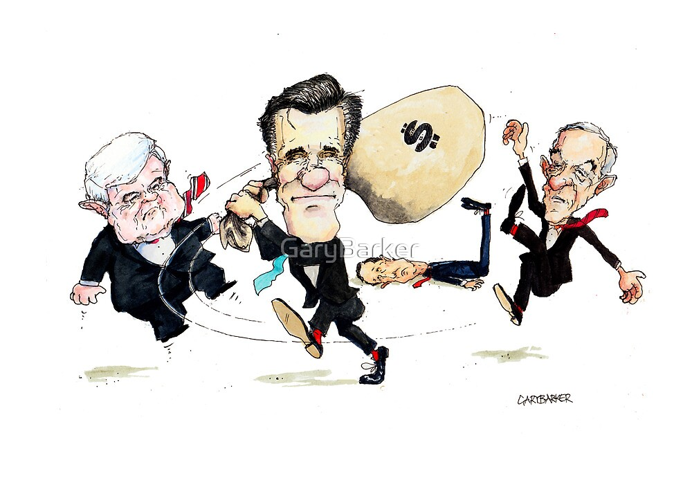 Mitt Romney Wins Republican Nomination by GaryBarker