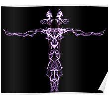 purple line on Black Poster