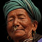 Nepalese woman with nose ring by Peter Hammer