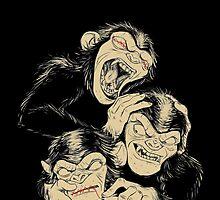 Three Wise Monkeys by mellieissa