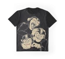 Three Wise Monkeys Graphic T-Shirt