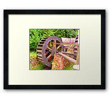 old mill wheel Framed Print