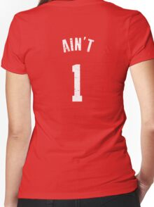 AIN'T ONE  Women's Fitted V-Neck T-Shirt