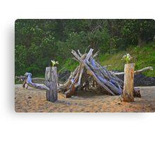 Beach Cubby Canvas Print