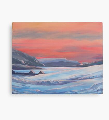 Colours Of Winter, Shetland Canvas Print