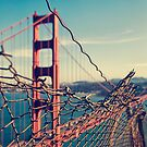Golden Gate Bridge - through the fence by Irene2005