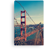 Golden Gate Bridge - through the fence Canvas Print