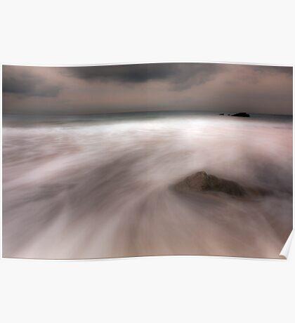 Misty Water-Rocky Bay Ireland Poster