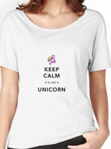 Keep Calm is Just a Unicorn  Women's Relaxed Fit T-Shirt