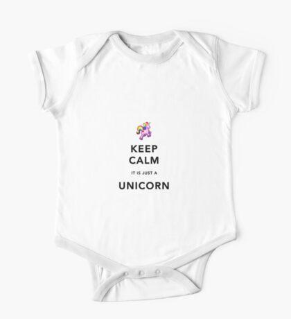 Keep Calm is Just a Unicorn  One Piece - Short Sleeve