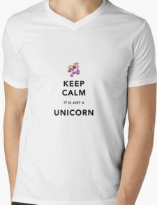 Keep Calm is Just a Unicorn  Mens V-Neck T-Shirt