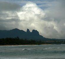 Nukoli'i Beach Plus Dramatic Cloud by Hapatography