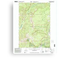 USGS Topo Map Washington State WA Pinegrass Ridge 243137 2000 24000 Canvas Print
