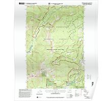 USGS Topo Map Washington State WA Pinegrass Ridge 243137 2000 24000 Poster