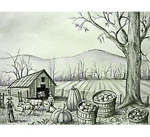 Fall Harvest Time Down on the Farm Photographic Print
